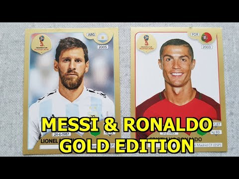 MESSI & RONALDO GOLD EDITION PANINI STICKER   Unboxing/Opening Stickers Pack Russia 2018 Collection