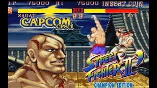 street fighter 2 Champion edition Sagat 2:0 Lev8 Playthrough