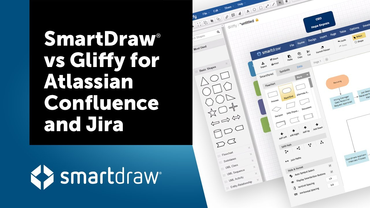 smartdraw vs gliffy for atlassian confluence and jira - Smartdraw Vs