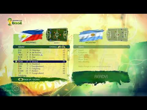 2014 FIFA World Cup Brasil Gameplay  Philippines Squads Player Ratings