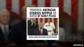 Пелоси разорвала текст речи президента США. Трамп ответил видео