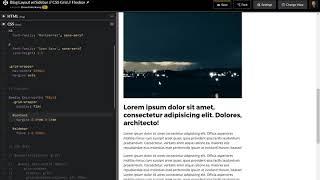 Blog Layout w/Sidebar Using CSS Grid (& Flexbox fallback)