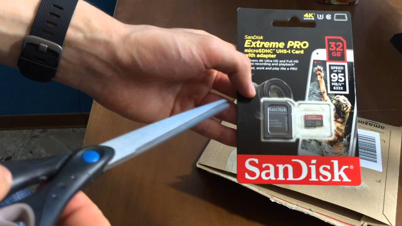 Unboxing Micro Sd Sandisk Extreme Pro Da 32 Gb Ottima Velocit Di Microsd 32gb Scrittura