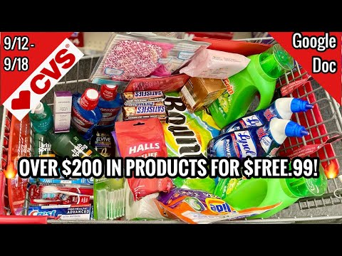 CVS Free & Cheap Coupon Deals & Haul | 9/12 – 9/18 | $200 IN PRODUCTS FOR FREE! 🔥