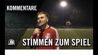Die Stimmen zum Spiel | Oststeinbeker SV - ASV Bergedorf 85 (18. Spieltag, Kreisliga 3)