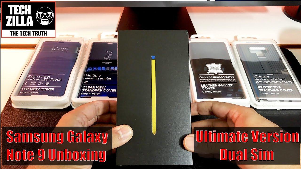 Samsung Galaxy Note 9 Unboxing - 512GB - Ocean Blue - Duos - Dual Sim