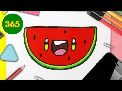 Comment Dessiner Pasteques Kawaii Etape Par Etape Dessins Kawaii