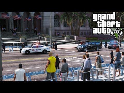 GTA 5 Secret Service Escorting President Elect Trump & President Obama To The Inauguration Ceremony