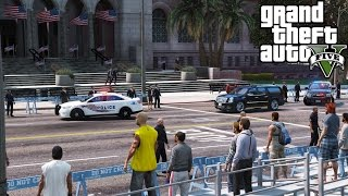 GTA 5 Secret Service Escorting President Elect Trump & President Obama To The Inauguration Ceremony thumbnail