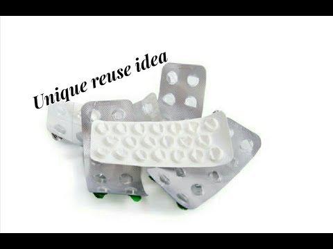Reuse DIY idea with empty medicine stripes | Making earrings | jewellery tutorials
