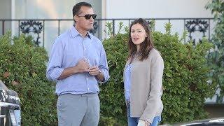 Jennifer Garner Is Seen Chatting Up Handsome Mystery Man In Brentwood