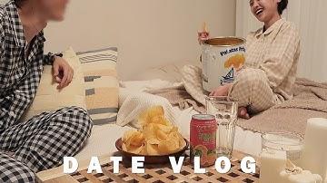 (eng)커플 브이로그_살찌고싶다, 집꾸미기, 커플잠옷, 식물키우기, 경복궁 야간개장