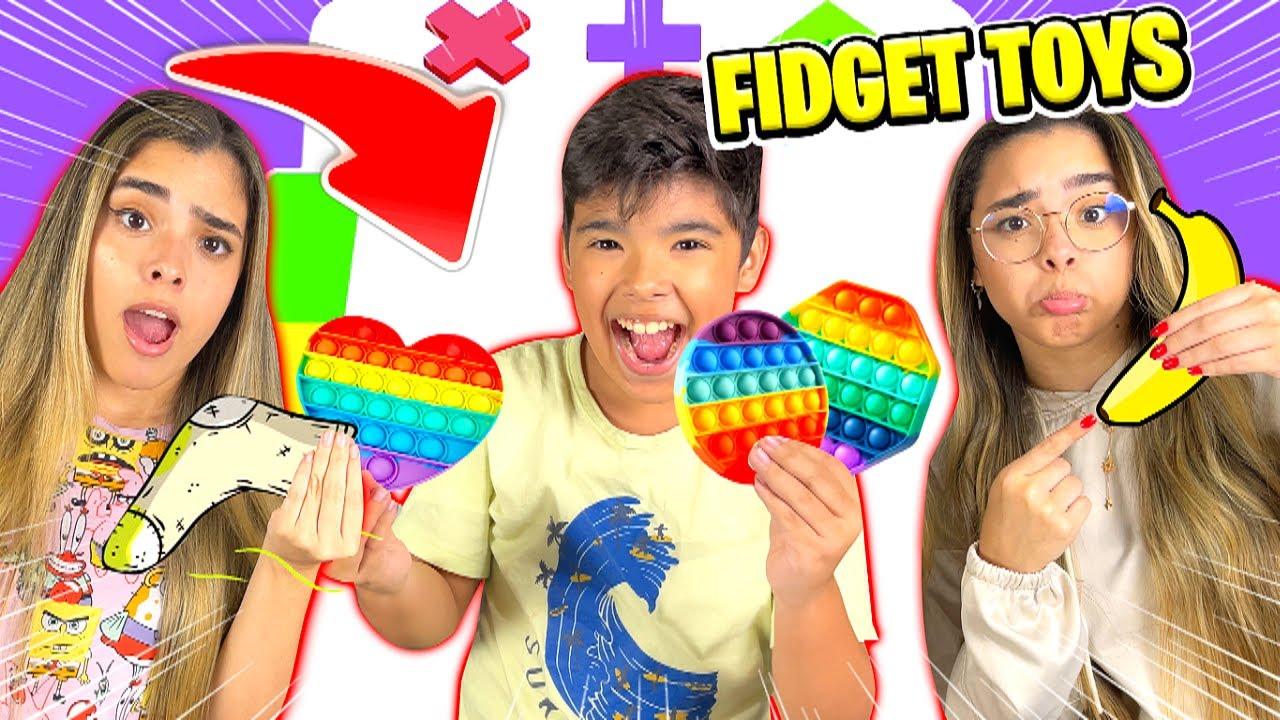 TROCA DE FIDGET TOYS !!! - (TRADING MASTER E FIDGET US 3D)