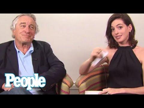 Anne Hathaway & Robert De Niro Tell Us Their Favorite De Niro Line   People
