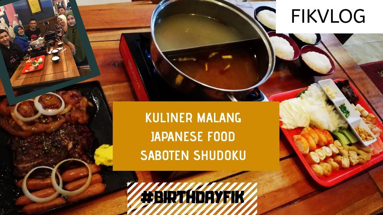 Fikvlog Kuliner Malang Japanese Food Di Saboten Shudoku Fikvlog Youtube