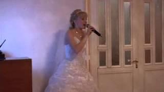 Мужу в день свадьбы. Песня в моем исполнении Любовь похожая на сон!