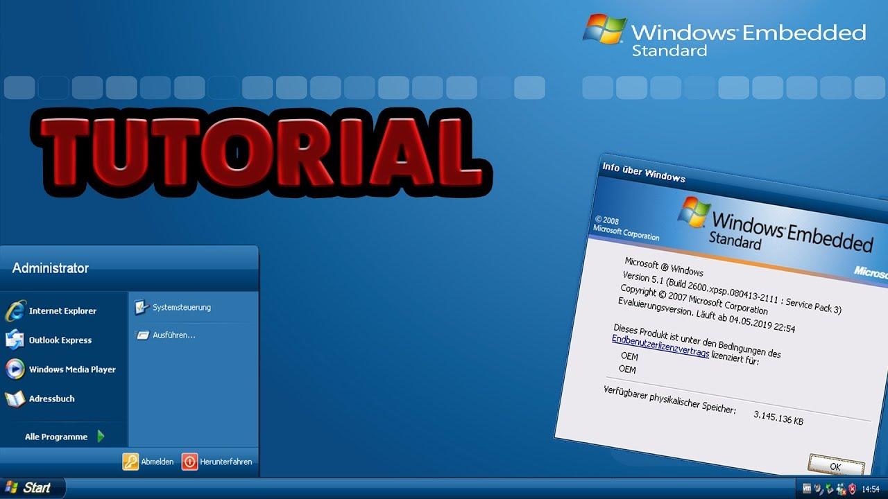 Windows Embedded Standard 2009 installieren! Download & Installation -  Deutsch/HD