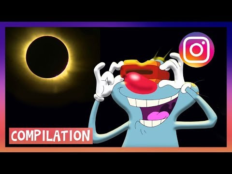 ???? NEW SOLAR ECLIPSE 2017 ???? Oggy and the Cockroaches