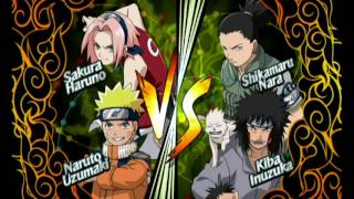 Naruto Clash of Ninja Revolution 2 - (Score Attack) - Naruto and Sakura