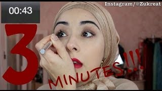 3 Minute Makeup Challenge - Fun Video !!! Thumbnail