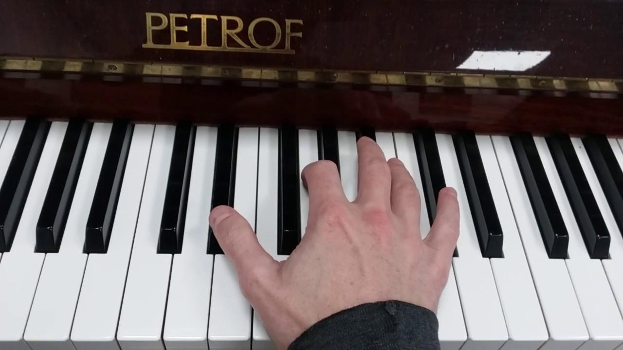 E Flat Chord Piano How to play an E flat ...