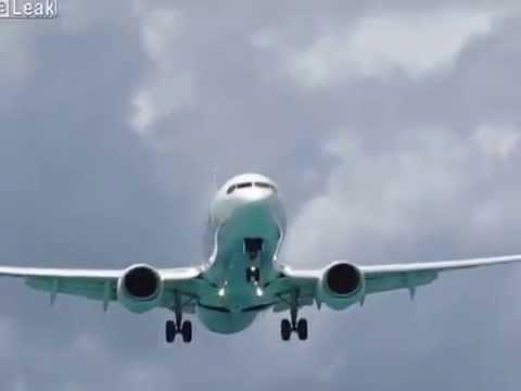 LiveLeak.com - Caribbean Airlines B738 Approach Landing at St  Maarten
