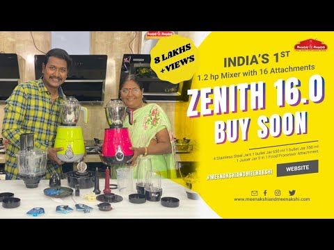 Diwali Offer 35% ... INDIA'S  first ever Mixer Grinder  with 1 HP motor & 15 Attachments ZENITH 15.0