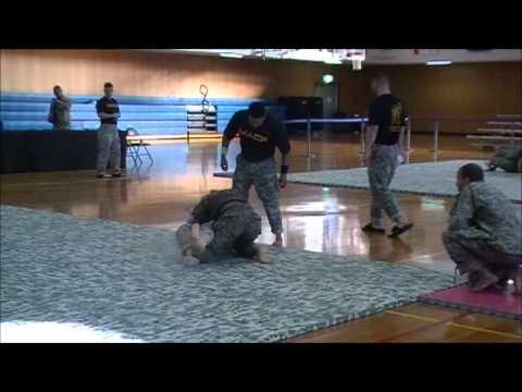Females, a former Marine vs Army, combatives tournament