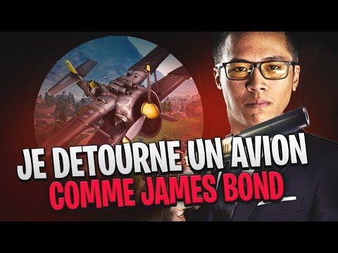 JE DETOURNE UN AVION COMME JAMES BOND SUR FORTNITE