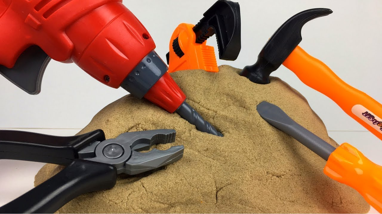 Kinetic Sand Surprises Discovered With Construction Tools