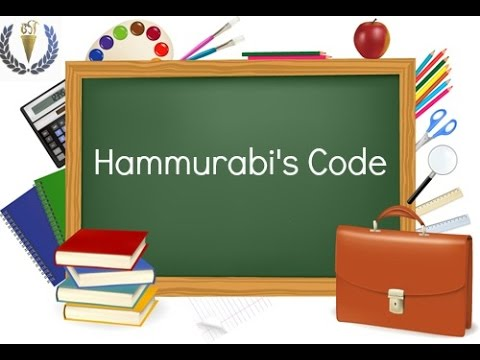 Hammurabi's Code of Law