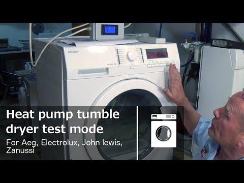 Heat pump tumble dryer test mode Aeg, Electrolux, John lewis,  Zanussi