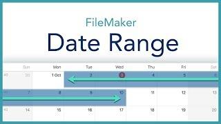 FileMaker Date Range Script