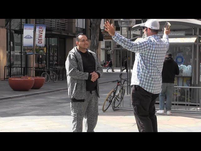 Street Preaching in Downtown Denver - April 2019 - Kerrigan Skelly of PinPoint Evangelism