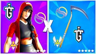 10 COMBO OF SKINS OF PLAYERS PRO on FORTNITE!! (Vitality, Solary, LDLC..) 🔥