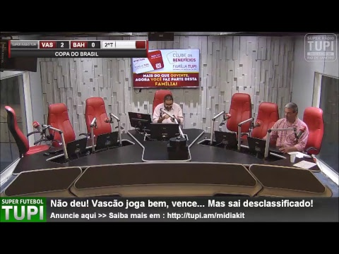 Vasco 2 x 0 Bahia - Oitavas de Final - Copa do Brasil - 16/07/2018 - AO VIVO