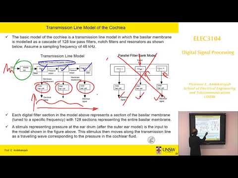 Digital Signal Processing: Mini Project Cochlear Signal Processing Part B - Prof E. Ambikairajah