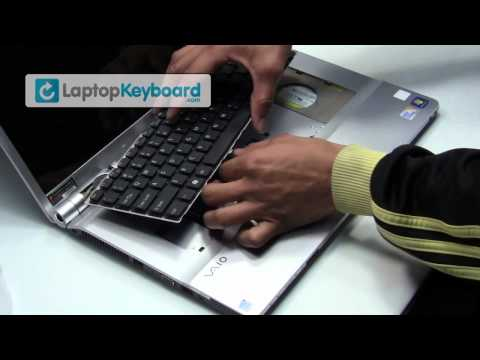 Sony Vaio Laptop Keyboard Installation Replacement Guide - VGN-NW - Remove Replace Install