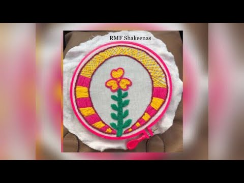 Hand embroidery for beginners and kids, simple art and craft - zaana 10