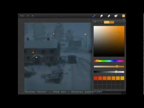 "iPad Art Procreate Tutorial ""Winter Volvo"""