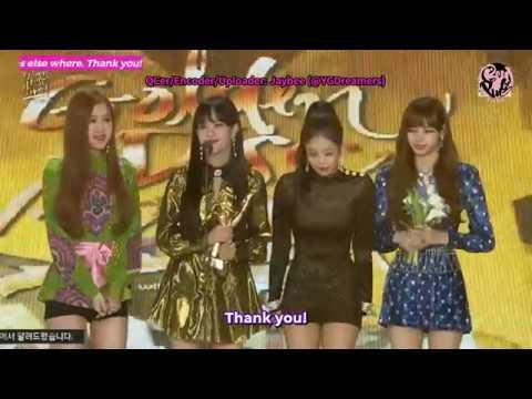 [ENGSUB] 180110 BLACKPINK - 32nd Golden Disc Awards Digital Bonsang Speech