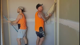 Drywall Paper Taping with Corner Roller and Straight Flushing Glazer