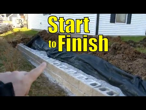 Building A Retaining Wall With Concrete Blocks