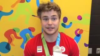 Entrevue avec Hugo Barrette après sa deuxième médaille d'or des Jeux panaméricains