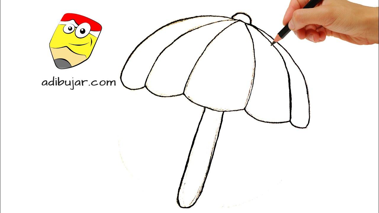 Emojis Whatsapp: Cómo dibujar una sombrilla/paraguas fácil | Dibujos ...