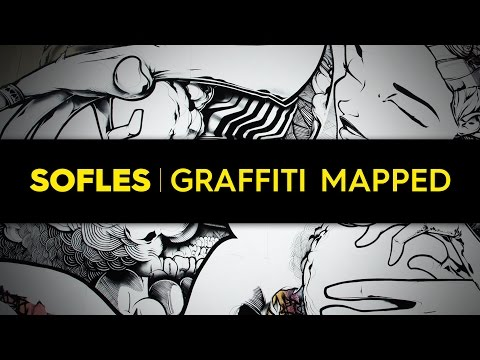 SOFLES' 3D Mapping Graffiti Mural On Five-Storey Building