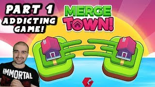 Merge Town Walkthrough - #1- NEW ADDICTING GAME! - (PC \ Android Gameplay Let's Play)