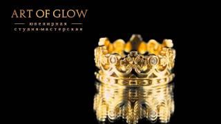 Необычные обручальные кольца из белого и желтого золота украшенные бриллиантами.(, 2014-05-27T16:25:28.000Z)