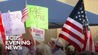 Protests break out in Florida amid recount fight