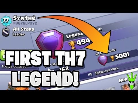 THE FIRST TH7 LEGEND PLAYER! + TH7 Farm Base Build - Push That Rush - Clash of Clans